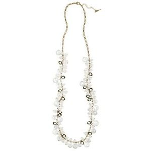 Chloe + Isabel Pearl/Crystal Drops Necklace N012
